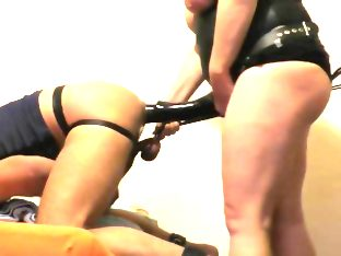 Bbw mistress with extreme long strapon